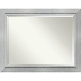 Wall Mirror Oversize Large, Romano Silver 48 x 38-inch