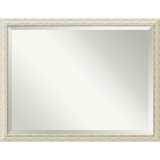 Wall Mirror Oversize Large, Cape Cod White Wash 44 x 34-inch