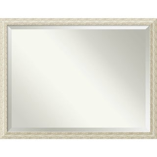 Wall Mirror Oversize Large, Cape Cod White Wash 44 x 34-inch - White Washed - oversize large - 44 x 34-inch