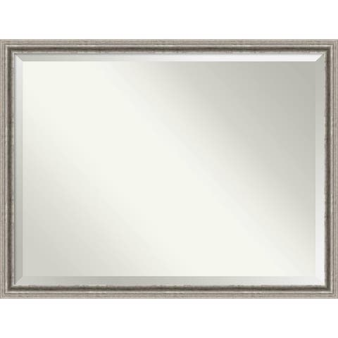 Wall Mirror Oversize Large, Bel Volto Silver 43 x 33-inch - Silver/Black - oversize large - 43 x 33-inch
