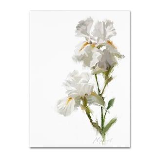 The Macneil Studio 'White Iris' Canvas Art