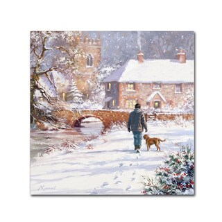 The Macneil Studio 'Man Dog Walking' Canvas Art
