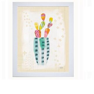 'Collage Cactus I' Framed Art