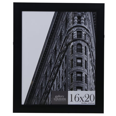 Black Flat with Inner Ridge Large Wall Frame