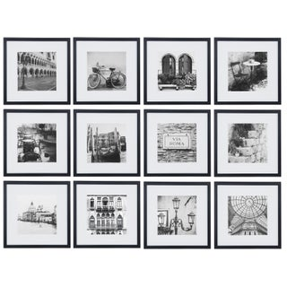 12-inch x 12-inch Matted to 8-inch x 8-inch Frame Kit (Set of 12)
