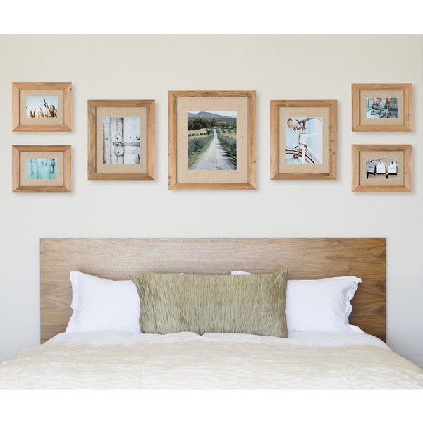 Shop 7 Piece Rustic Wood Frame with Fabric Mat Kit - Free Shipping ...