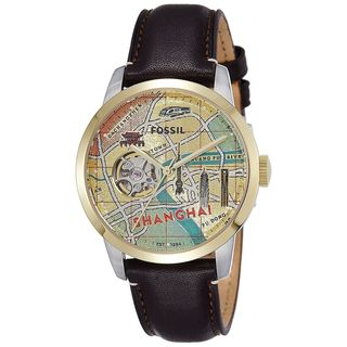 Fossil Men's LE1037 'Townsman' Automatic Brown Leather Watch