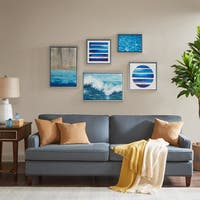 Madison Park Water Tide Blue 5 Piece Gallery Set
