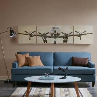 Intelligent Design Flight Time Grey Gel Coat Canvas 3 Piece Set
