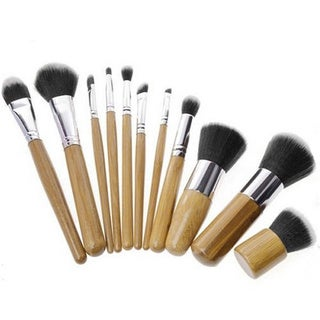 Wood Handle Makeup Brush Set (Box of 11)