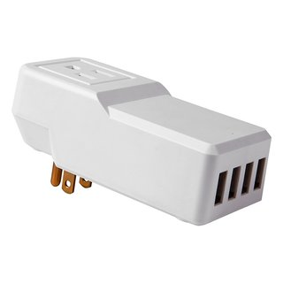 Urbo Smart Intelligent Wall Charger with 4 USB and 1 AC port for Charging Multiple Devices