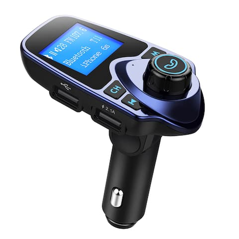 Bluetooth FM Transmitter USB Car Charger Wireless Car Kit with 3.5mm Audio Input/ Output