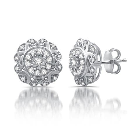 3/8 CTTW Diamond Composite Stud Earrings in Sterling Silver (I-J, I2-I3)