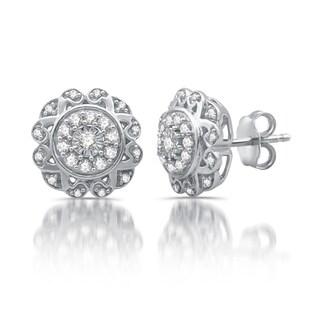 3/8 CTTW Diamond Composite Stud Earrings in Sterling Silver (I-J, I2-I3)