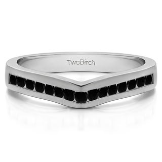 10k Gold Classic Contour Wedding Ring mounted with Cubic Zirconia (0.15 Cts. twt)