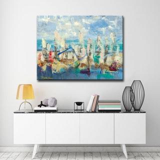 'Colorful Shoreline' Ready2HangArt Canvas by Dana McMillan