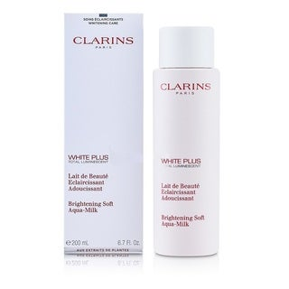 Clarins White Plus Total Luminescent Brightening Soft Aqua-Milk 6.7-ounce