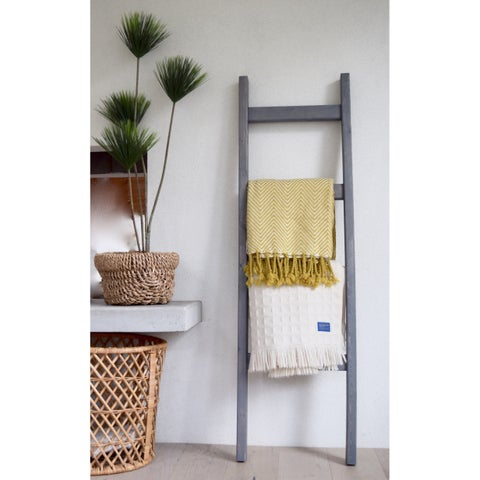 5 Ft Modern Farmhouse Grey Decorative Ladder