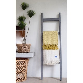 5 Ft Modern Farmhouse Grey Decorative Ladder (2 options available)