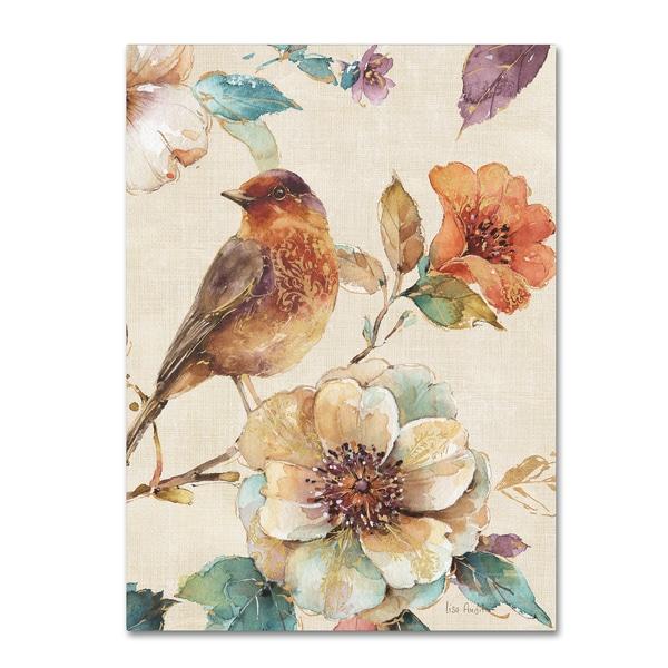 Shop Lisa Audit Spiced Nature Ii Linen Leaf Canvas Art