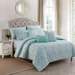 Porch & Den Eastside Newport Damask 10-piece Comforter Set