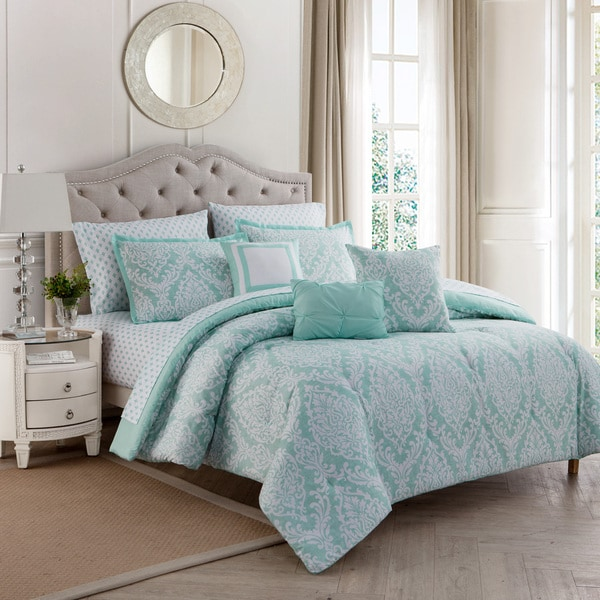 Copper Grove Ecstall Damask 10-piece Comfort Set
