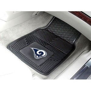 "NFL - Los Angeles Rams 2-pc Vinyl Car Mats 17""x27"""