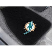 NFL - Miami Dolphins 2-pc Embroidered Car Mats 18x27