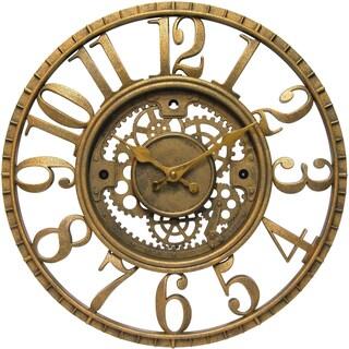 Infinity Instruments 15.5 in Round Gear Clock