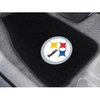 NFL - Pittsburgh Steelers 2-pc Embroidered Car Mats 18x27