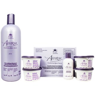 Avlon Affirm 32-ounce Normalizing Shampoo & 4-piece Sensitive Scalp Relaxer