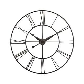 Infinity Instruments Skyscraper XXL Steel 45-inch Wall Clock