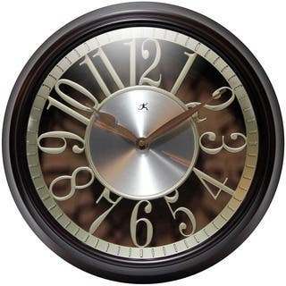 Infinity Instruments Leeds; a 15-in Round Walnut Wall Clock|https://ak1.ostkcdn.com/images/products/15647772/P22077574.jpg?impolicy=medium