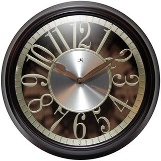 Infinity Instruments Leeds; a 15-in Round Walnut Wall Clock