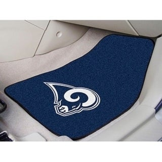 "NFL - Los Angeles Rams 2-pc Carpeted Car Mats 17""x27"""