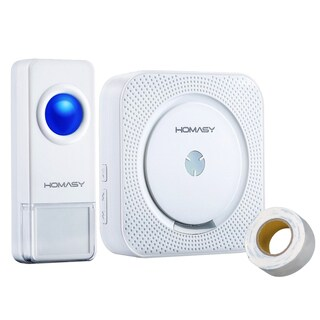 Wireless Doorbell Operating at over 1000-feet Range in open space with Over 50 Chimes, 4-LevelVolume