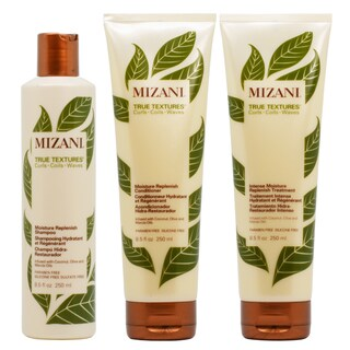 Mizani True Textures Moisture 8.5-ounce Replenish Shampoo, Conditioner & Intense Treatment