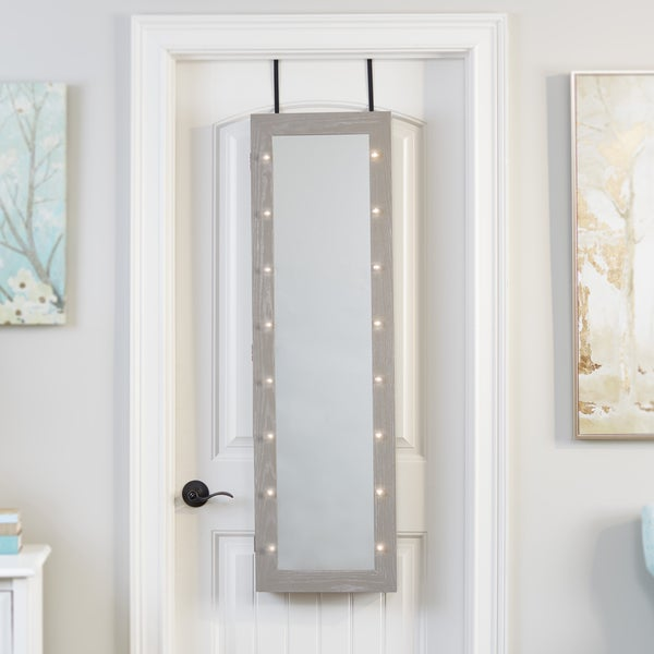 Shop Mirrored Jewelry Armoire With Led Lights Free