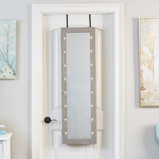 Mirrored Jewelry Armoire with LED Lights