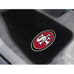 "NFL - San Francisco 49ers 2-pc Embroidered Car Mats 18""x27"""