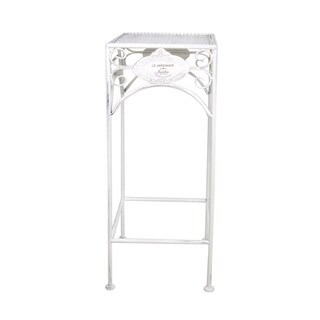 Jeco Biermont White Metal Nesting Plant Stands (Set of 3)