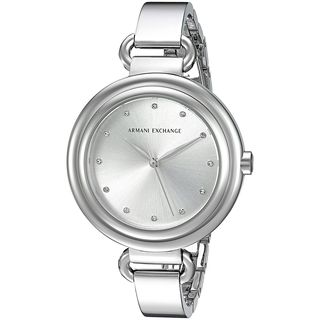 Armani Exchange Women's AX4239 'Smart' Crystal Stainless Steel Watch