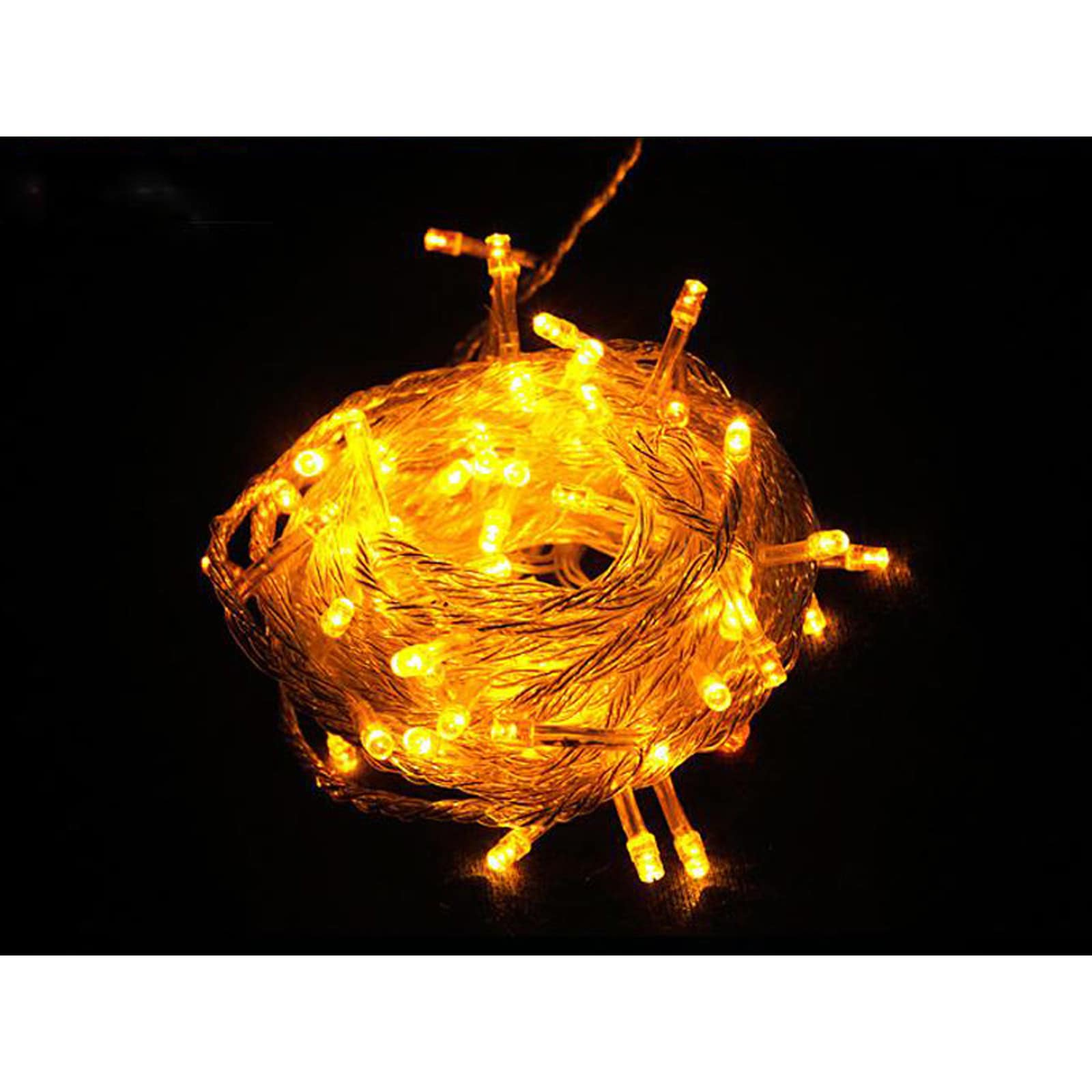 100 LED String Light w/ connector - Yellow (32ft, Yellow)...
