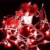 100 LED String Light w/ connector - Red