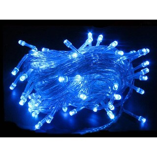 100 LED String Light w/ connector - Blue