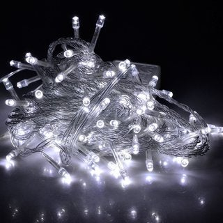 100 LED String Light w/ connector - White