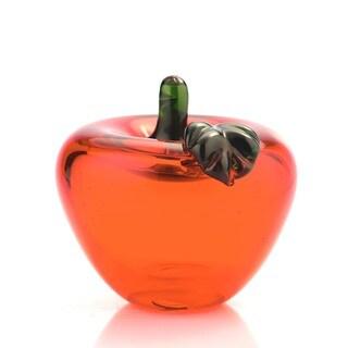 Red Glass Apple Decor