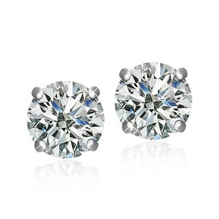 Link to Surgical Steel Rhodium Plated Clear Cubic Zirconia Brilliant Cut Round Stud Earrings Similar Items in Earrings