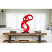 Finesse Decor Lady Roll White Resin Sculpture