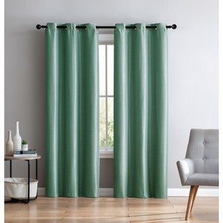 VCNY Home Arlenis Faux Silk Blackout Curtain Panel Pair